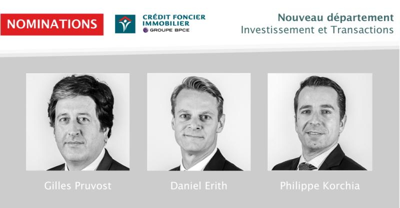 Investissement et transactions nominations